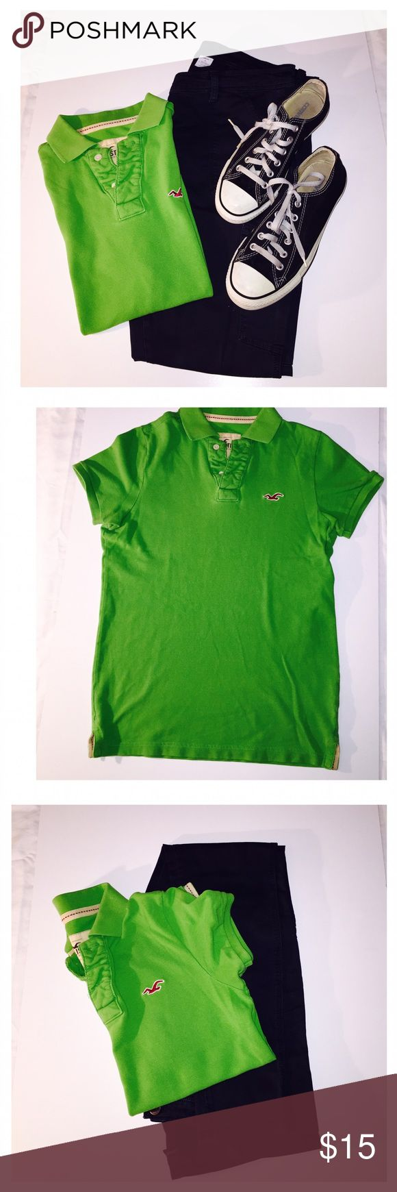 Hollister light green polo shirt Hollister light green polo shirt Hollister Tops Blouses