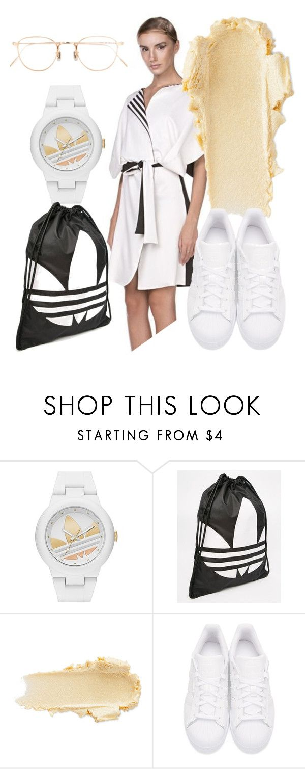 """b&w"" by katkat-cdlii on Polyvore featuring adidas, adidas Originals and Eyevan 7285"