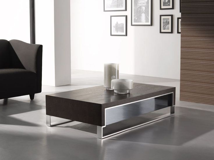 Exceptional Rectangular Shape Coffee Table With Steel Feet