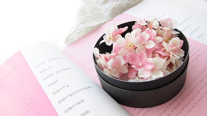 あじさいのヘッドドレス ピンク http://www.fleuriste-glycine.jp/
