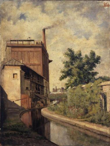 La Bièvre, rue Croulebarbe (Usine de la veuve Lanier)   Paris Musées