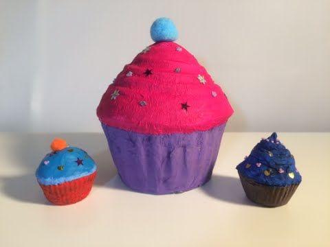 Taart of cupcake knutselen van papier-maché. ook leuk om als surprise te maken voor Sinterklaas.