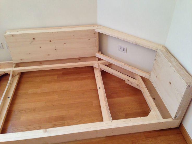 struttura in legno massello chaise-longue per divano modello Isola su misura - Tino Mariani.