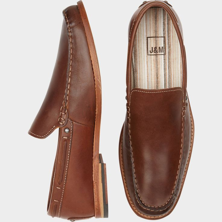 Johnston & Murphy Hamby Venetian Brown Slip On Shoes (Outlet) | Men's Wearhouse