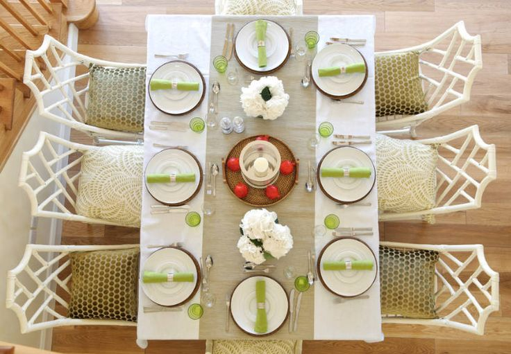 Centerpiece ideas - A table runner is an inexpensive but effective way to add color, pattern and a focal point to your table centerpiece. freshome.com