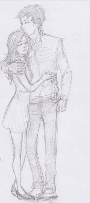 "Dara wrapped her arms around me, that slight spark running along my arms. She giggled, leaning into me, as I rested a hand on her. ""I love you."""