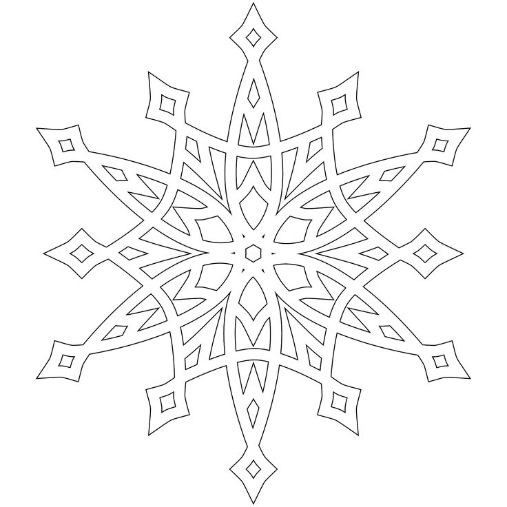 detailed christmas coloring pages half dozen 8x8 inch snowflakes to color use as digital - Christmas Snowflake Coloring Pages