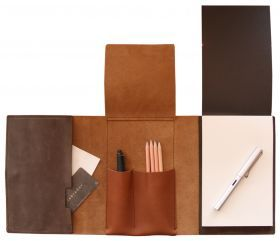 Leather notepad.   $99.95  #leather