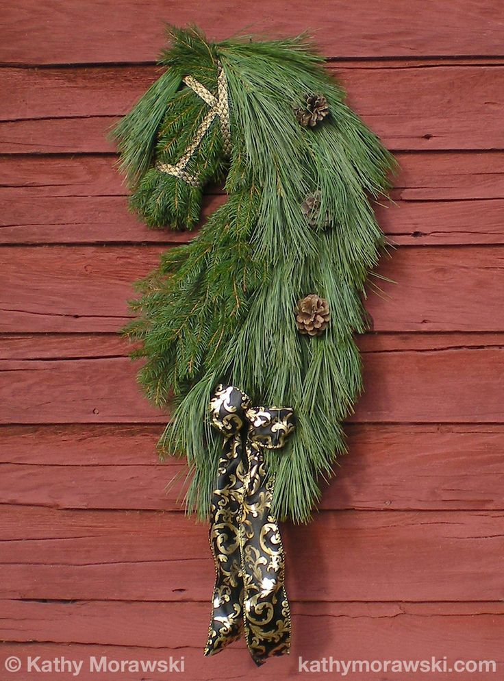 Friesian Horse Head Wreath Feeling Crafty Horse Head