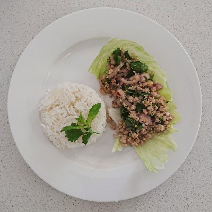 [Homemade] Larb Moo (Spicy Thai Pork Salad)