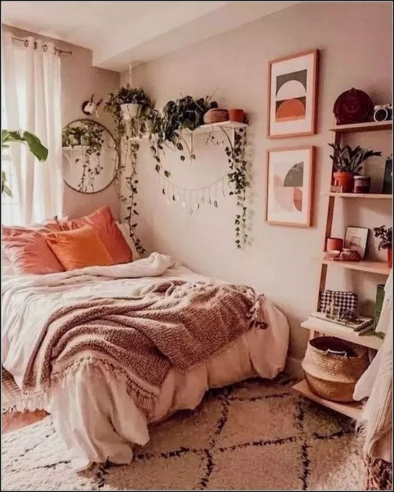 70 Amazing and Cute Aesthetic Bedroom Design Ideas | Small ...