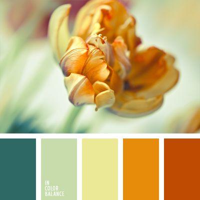 anaranjado y verde, blanco lino, color anaranjado quemado, color verde chillón, color verde pantano claro, colores pasteles suaves, combinación de colores, coral, de zanahoria, elección del color, rojo coral, selección de colores para un dormitorio, tonos suaves.