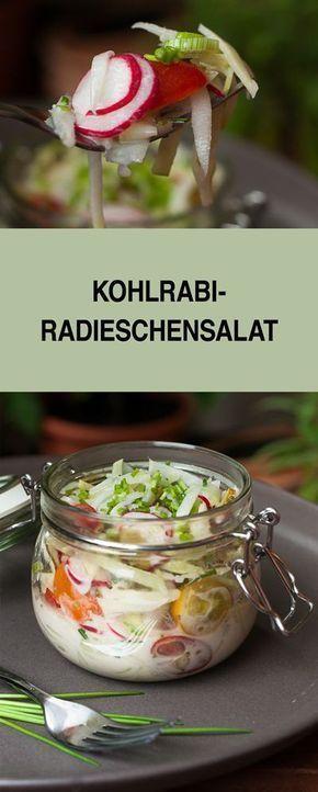 Habt ihr schonmal einen Salat mit Kohlrabi ausprobiert? Nein, dann probiert mein Rezept mal aus. Der Salat schmeckt wunderbar erfrischend. Wir essen ihn gerne als Beilage zum Grillen und BBQ. Auf einem Salatbuffet macht er sich aber auch ganz toll.
