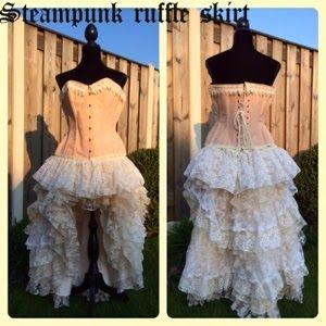 365 dagen creatief: Yess mijn steampunk ruffle skirt is een feit
