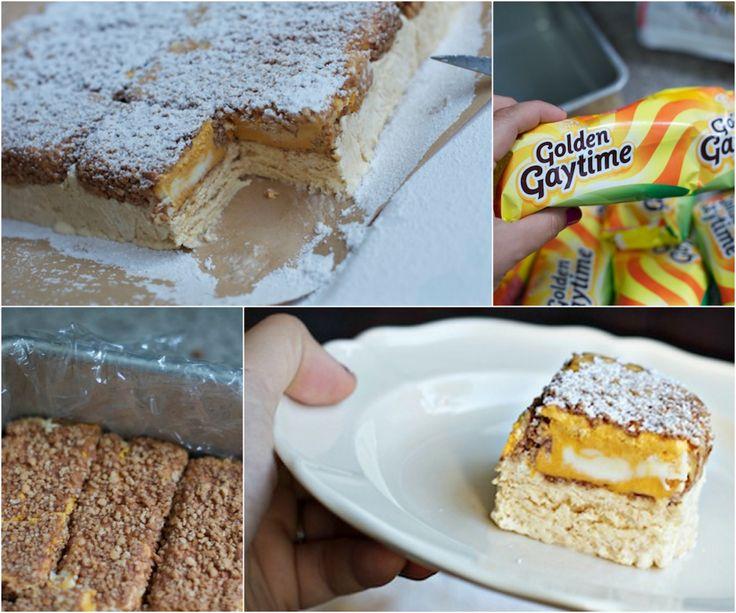 Golden Gaytime Icecream Cake