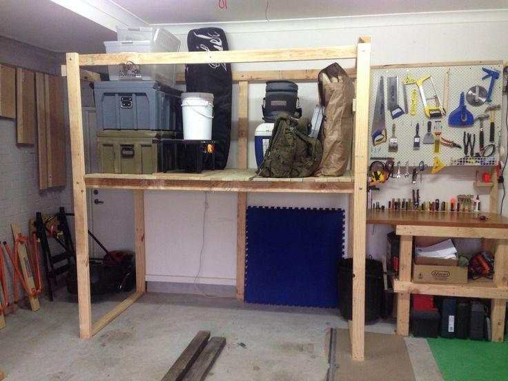 Garage storage unit, workbench and shadow board.