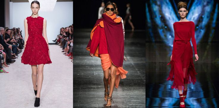 The Colors of FW14 – 10 Ways to Kick Out Black, Grey and Beige #red #thedailydagny