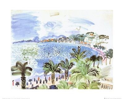 La Promenade des Anglais, c.1928 Print - Raoul Dufy