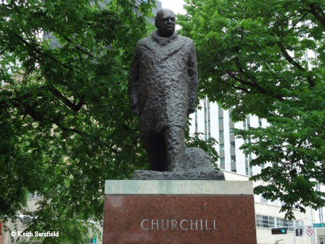 CHURCHILL unveiled by The Lady Soames 24  May 1989