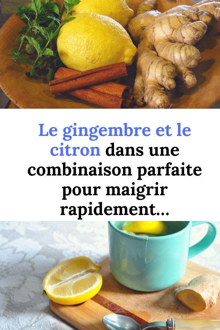 persil gingembre citron pour maigrir
