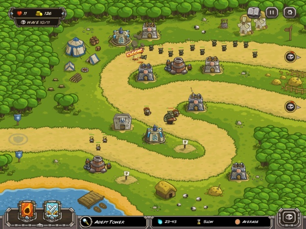 Kingdom Rush - clear and definable visual style