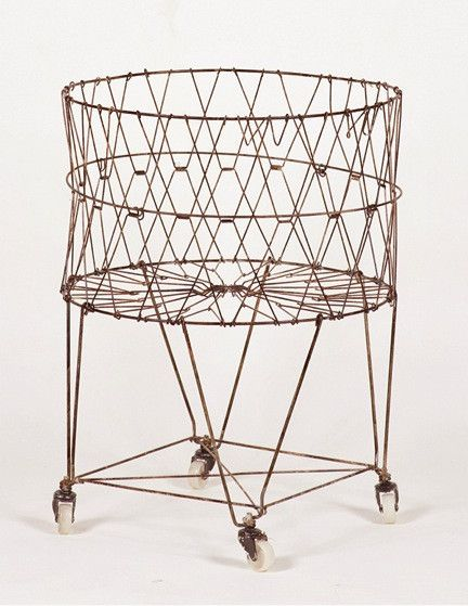 Vintage Collapsible Laundry Basket