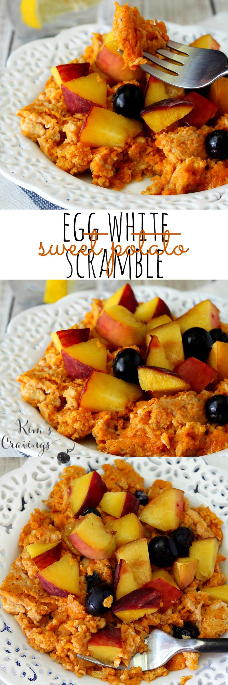 Egg White Sweet Potato Scramble- a lightly sweet and delicious way to start the day! (21 Day Fix EXTREME approved)