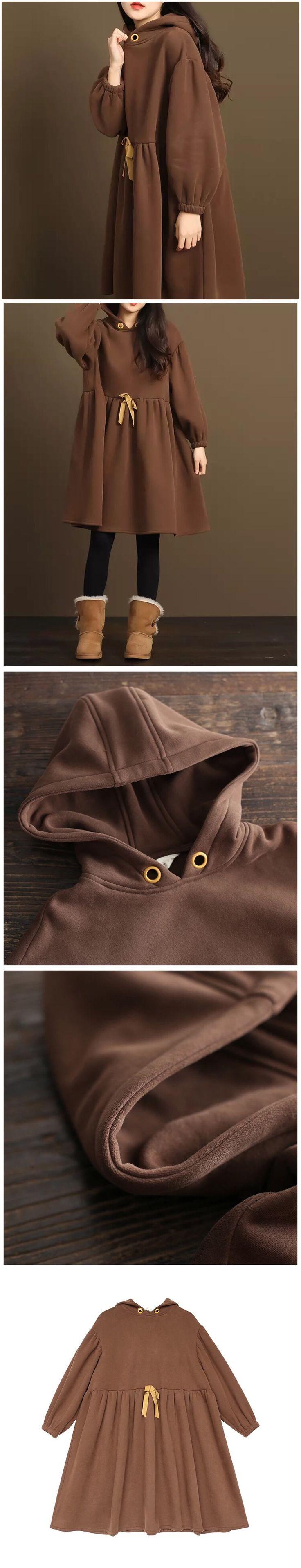 Coffee loose Long fleece jacket women's coat