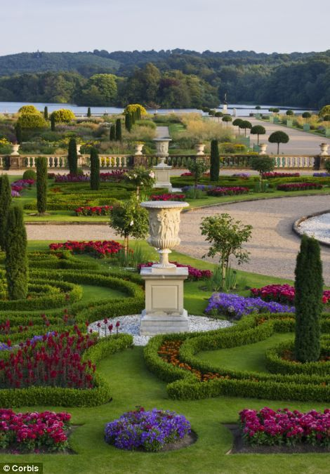 Trentham Gardens, Staffs. The spectacular and vast gardens were once tended by up to 50 gardeners and were recently refurbished and replanted with thousands of plants and flowers to return it to its former glory. It is still maintained by a huge staff and is seen by many visitors especially in spring and summer. The famous Italian Gardens were revived by award-winning designer Tom Stuart-Smith.