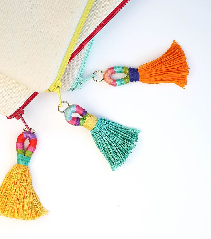 How To Make Colorful & Quick Embroidery Floss Tassels