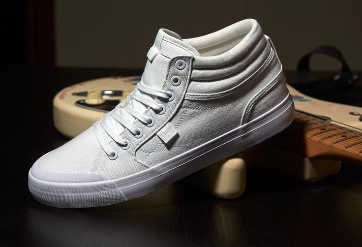 DC Shoes, DC Skate Shoes, DC Evan Smith HI TX White/White