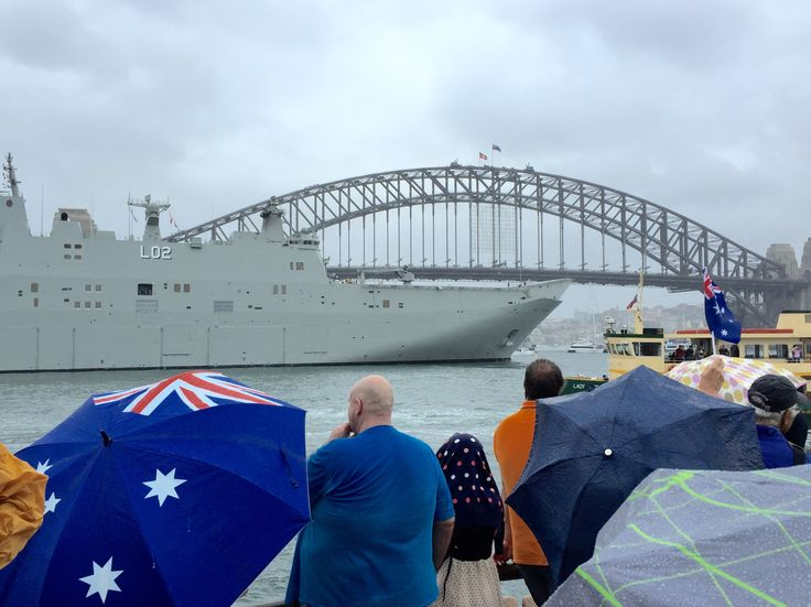 HMAS Canberra Credit: Laura Liu
