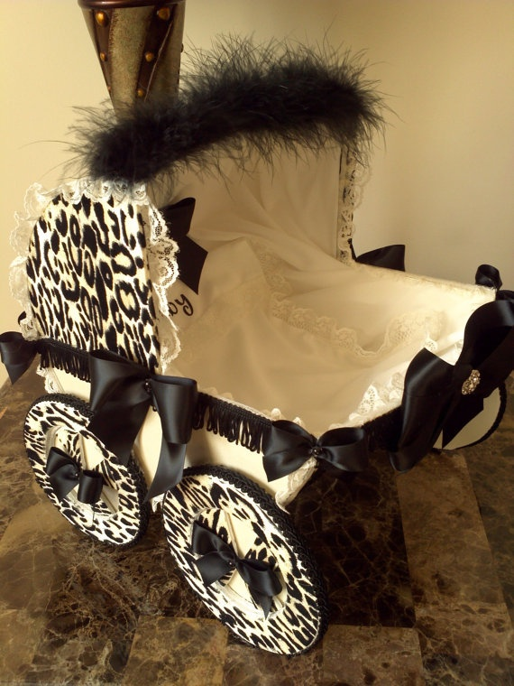 14 Inch Beige And Black Leopard / Cheetah Baby By APregnancyStory, $39.00