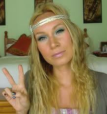 boho maxi dress 70s makeup