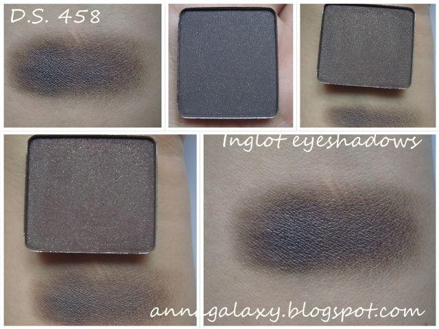 Anna Galaxy: Inglot. Тени для век D.S. 467, D.S. 458, 112R, pearl 452, pearl 414