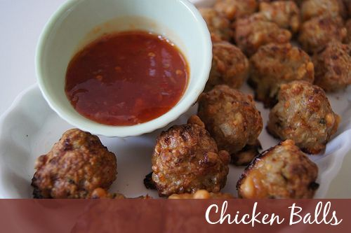 Easy Cheesy Chicken Balls - great finger food for parties.