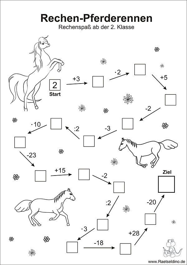 Numbers With Horses Math Arithmetic 2nd Class 2nd Arithmetic Class Horses Math Mathe Numbers In 2020 Matheaufgaben Zahlenratsel Mathe