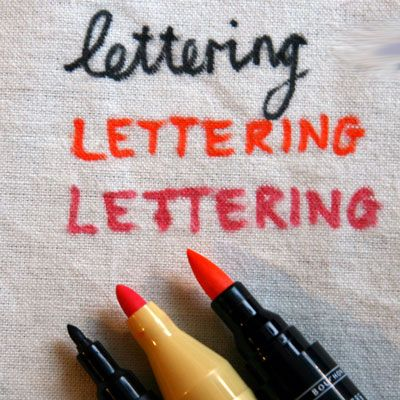 5 Ways to Use a Fabric Marker or Fabric Paint Pen: Lettering with a Fabric Marker