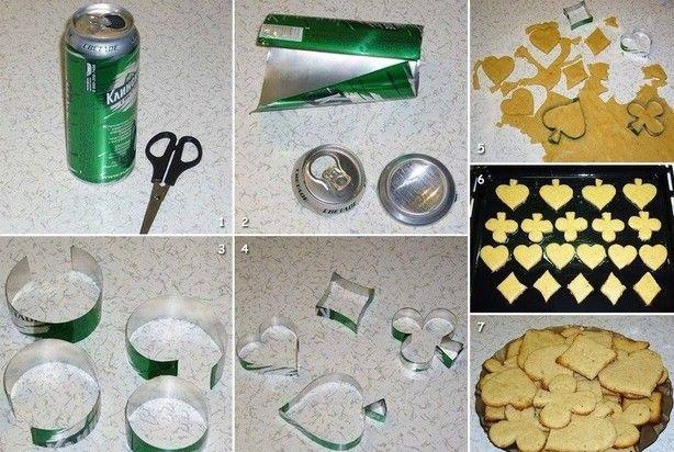 .Aluminium blikjes, hergebruikt als koek  vormpjes en de vorm die jij maar wil      ...Makkelijk en goedkoop ...