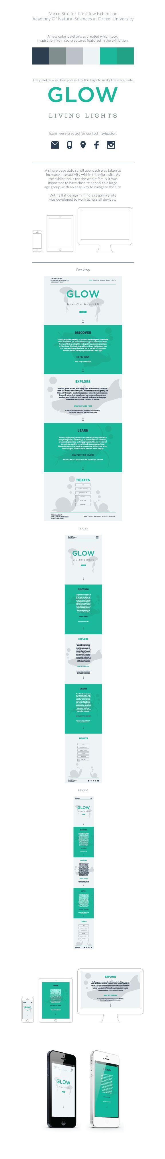 Glow Exhibition Micro Site by Mike Garzarelli, via Behance