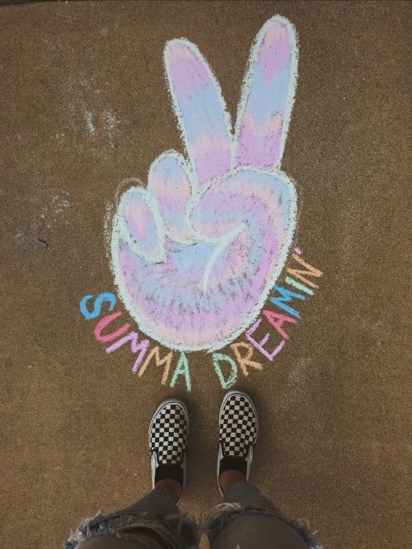 Vsco Galexiaaa17 Vibes Summer Cute Chalk Summer Drawing