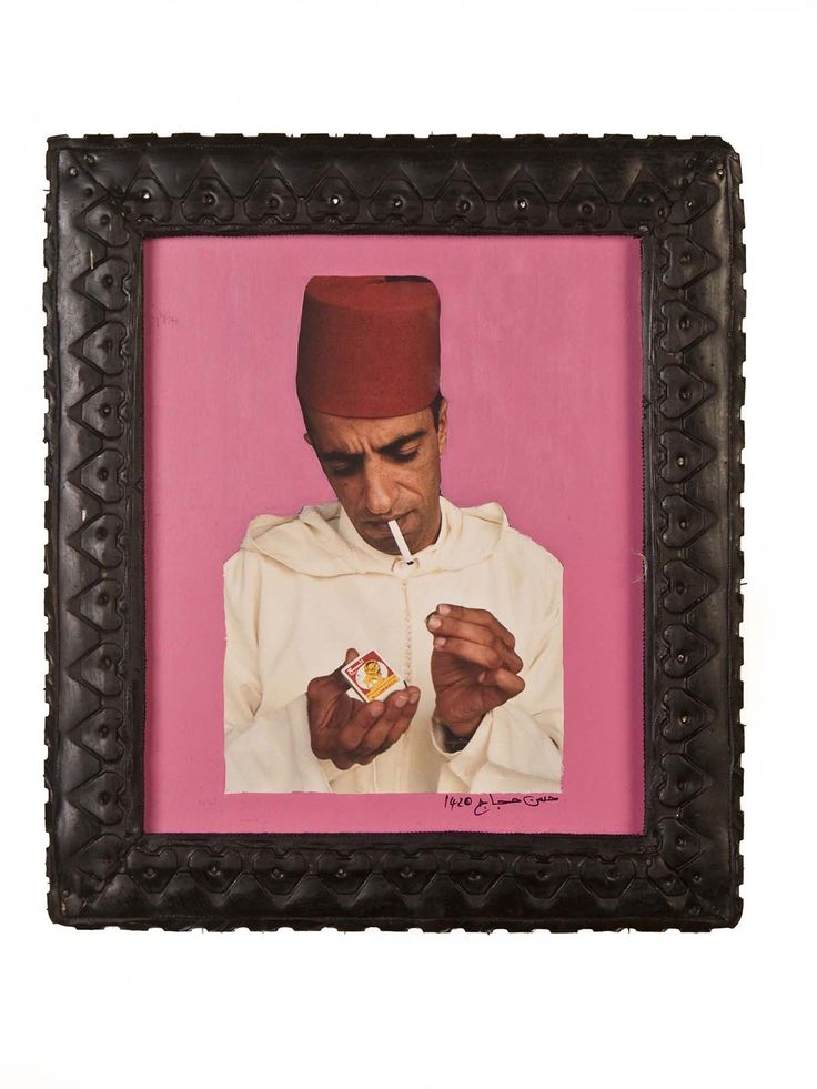"""""""Ahmed Lighting Up In Pink"""" By Hassan Hajjaj"""
