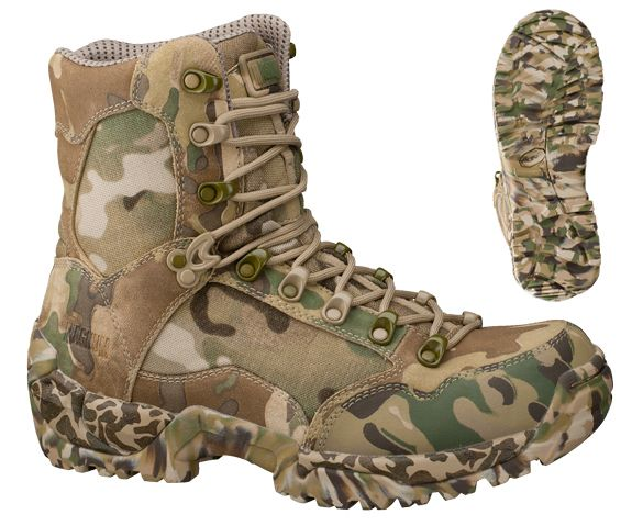 2.2mm suede upper / 1200 denier nylon panel for ultimate breathability  Genuine Crye MultiCam® fabric  ion-mask™ hydrophobic surface enhancement  Tec-Tuff leather toeguard resists snags and abrasions  Certified to EN 20347:2004 standard for occupational footwear  Lace eyelets will not shine or glint when scratched  Rigid flex insole board  OrthoLite® shock absorbing removable sockliner  Breathe Right™ lining to maximize breathability and comfort