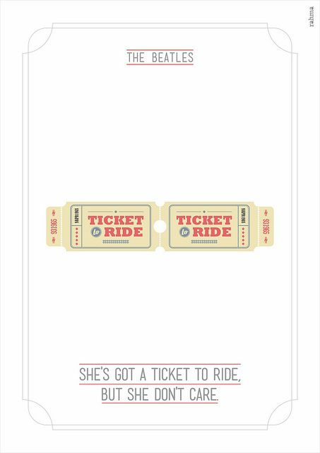 de bedste ideer inden for ticket to ride beatles pa  she s got a ticket to ride illustration for the song ticket to ride by