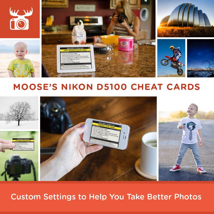 Custom settings to help you take better photos with your Nikon D5100 for a variety of subjects and scenes!