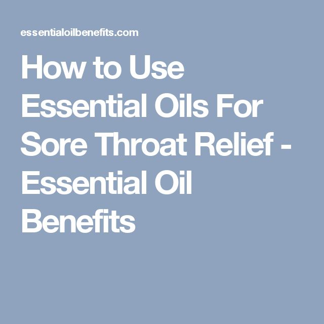 how to use peppermint oil for sore throat