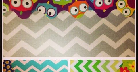 Mr. First Grade: Chevron Bulletin Boards (and Vacation Pictures!)