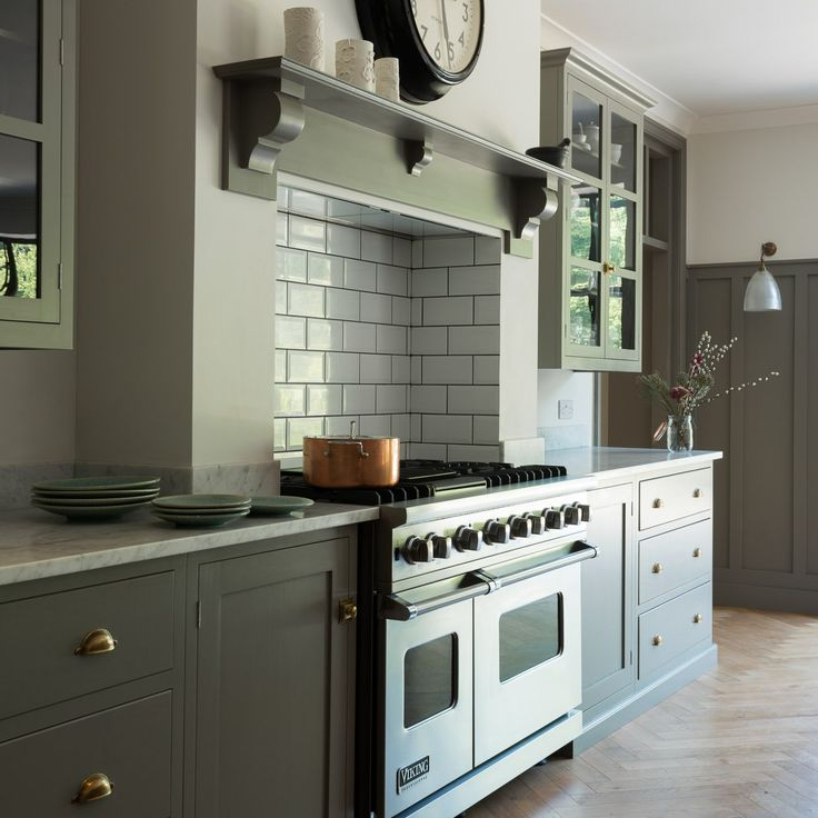 The Queens Park Kitchen | deVOL KitchensLOVE THIS...NICE CLOCK