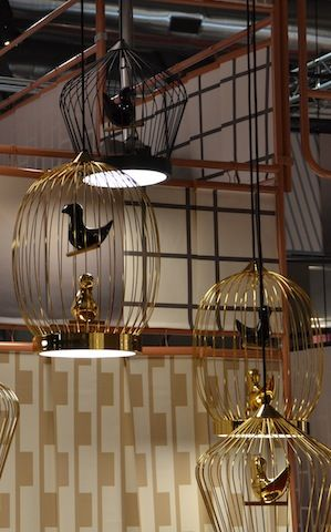gold birdcage lamp