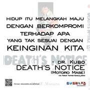 #ComicQuote Komik DEATH'S NOTICE (Motoro Mase) http://ow.ly/rC0sz mobile http://ow.ly/rC0tM  Pemesanan http://ow.ly/rC0pW   /via twitter @jogja_comic
